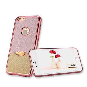 Electroplate Frame Dual Color Glitter iPhone Case