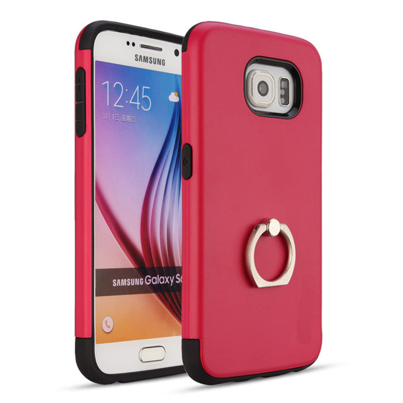 Smooth Textured Samsung Case With Ring Holder