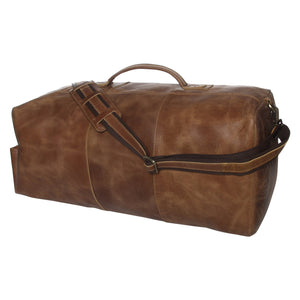 Leather Military Duffel Bag 24""