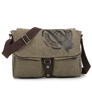 Dual Pocket Canvas Messenger