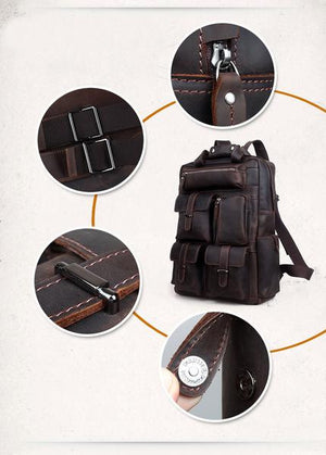 Backpacks - Crazy Horse Leather Backpack