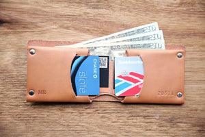 Bifold Wallet - Mr Lentz Minimalist Genuine Leather Wallet