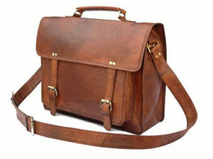 Briefcase - Full Grain Leather Laptop Briefcase