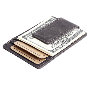 Synthetic Leather Magnetic Money Clip Wallet