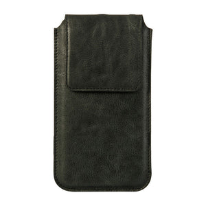Genuine Leather Sleeve Pouch Cover Magnetic Closure Phone Case For iPhone