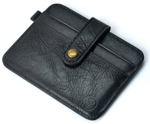 Waxed Leather Mini Clasp Wallet