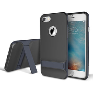 Luxury Black Back Cover Kickstand Case for iPhone 7/ 7 plus
