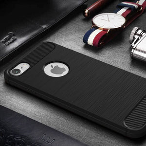 Luxury Soft TPU+PC Silicone Back Cover Case For iPhone