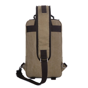 Trunk Shaped Canvas Crossbody Bag