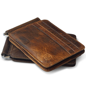 Vintage Leather Slim Wallet