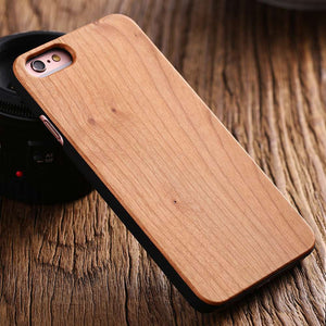 Ultra Thin Natural Real Wood Bamboo Wood Case For iPhone