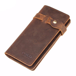 Vintage Hasp Genuine Leather Wallet