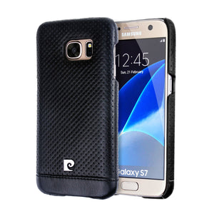 Genuine Leather Back Cover Case For Samsung Galaxy S7