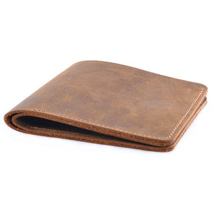 Vintage Crazy Horse Leather Bifold Wallet