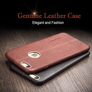 Fashion genuine leather luxury phone case for iphone case cover