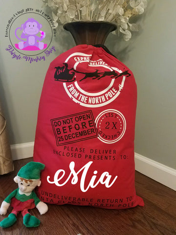Red Personalized Santa Sack