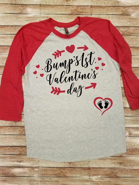 Bump's First Valentine's Day | Valentine's Day Shirt
