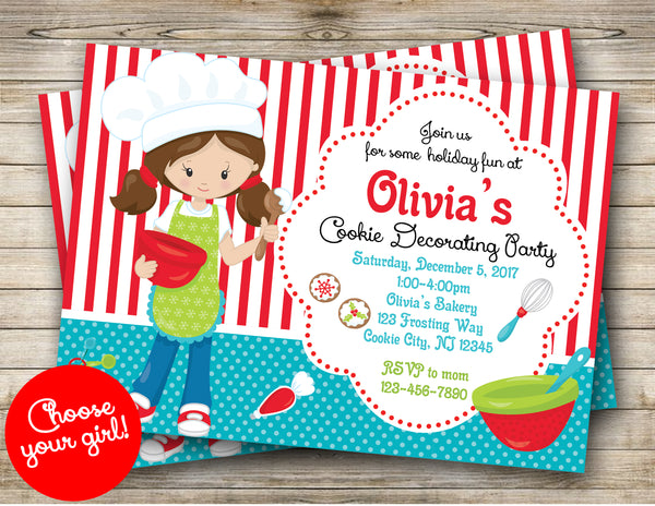 Cookie Decorating Party Digital Invitation
