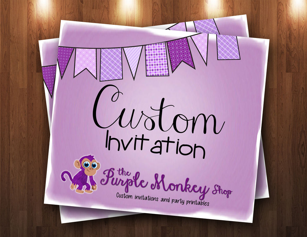 Custom Order Invitation