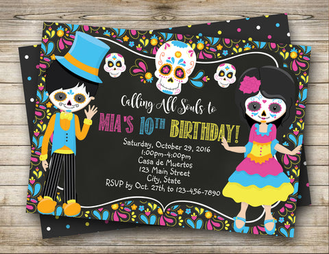 Dia de los Muertos, Day of the Dead Digital Invitation
