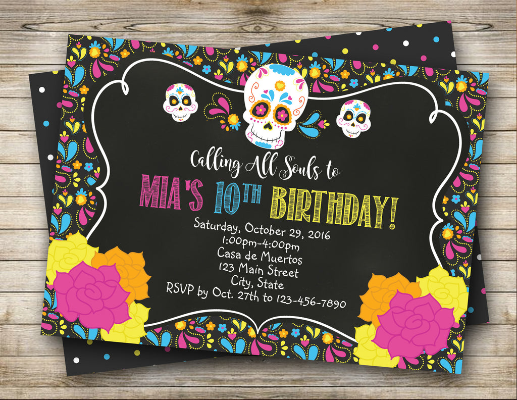 Dia de los Muertos, Day of the Dead Invitation