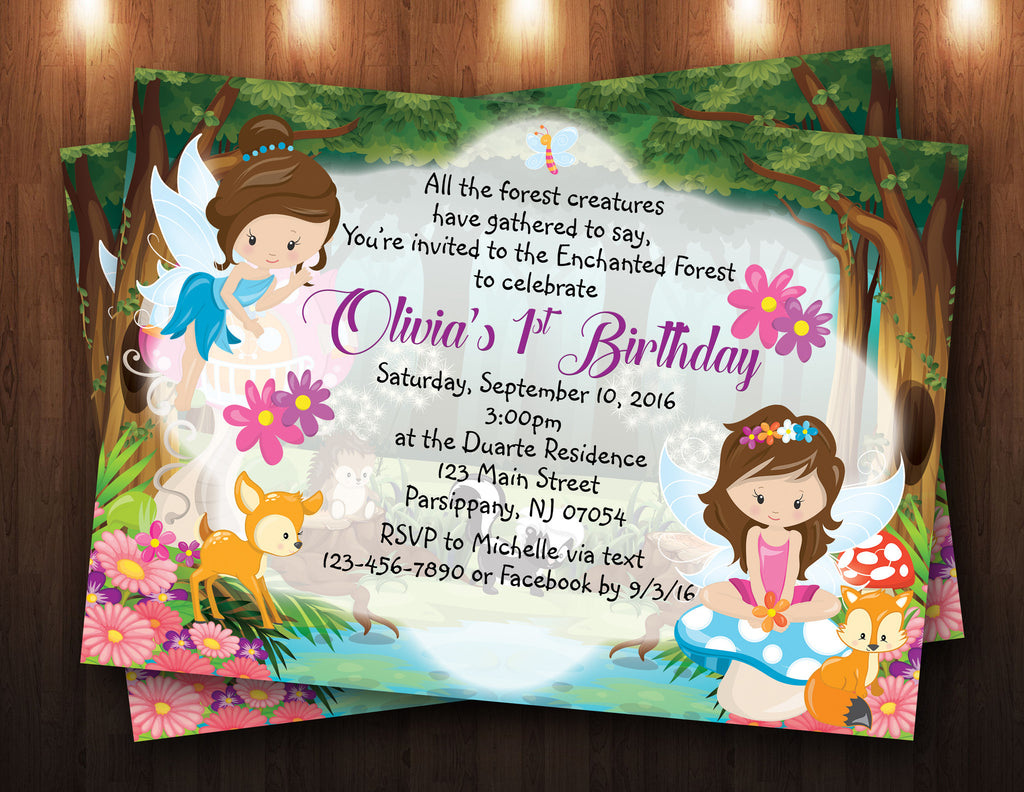 Enchanted Forest/Fairies Digital Invitation