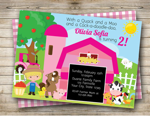 Farm Birthday Digital Invitation