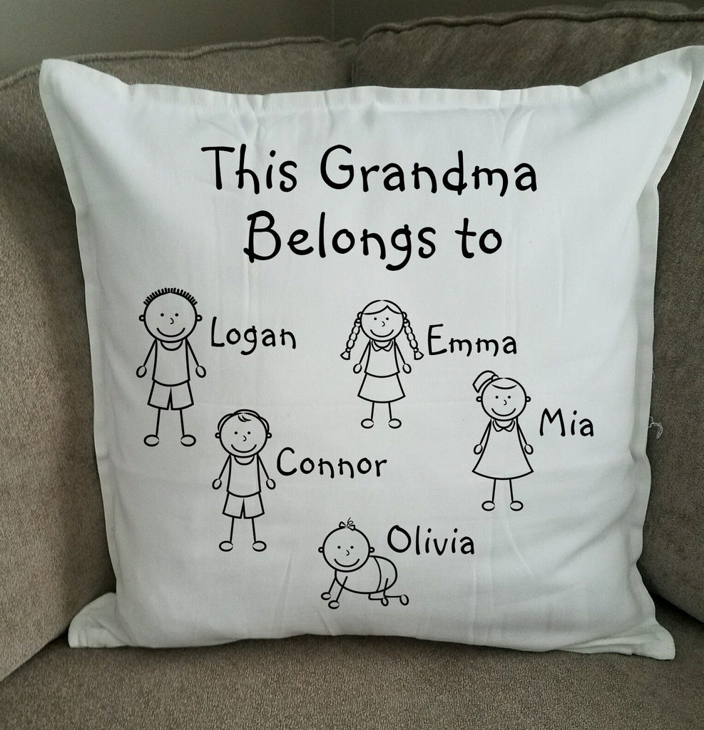 Personalized Grandma/Grandmother Pillow - Mother's Day