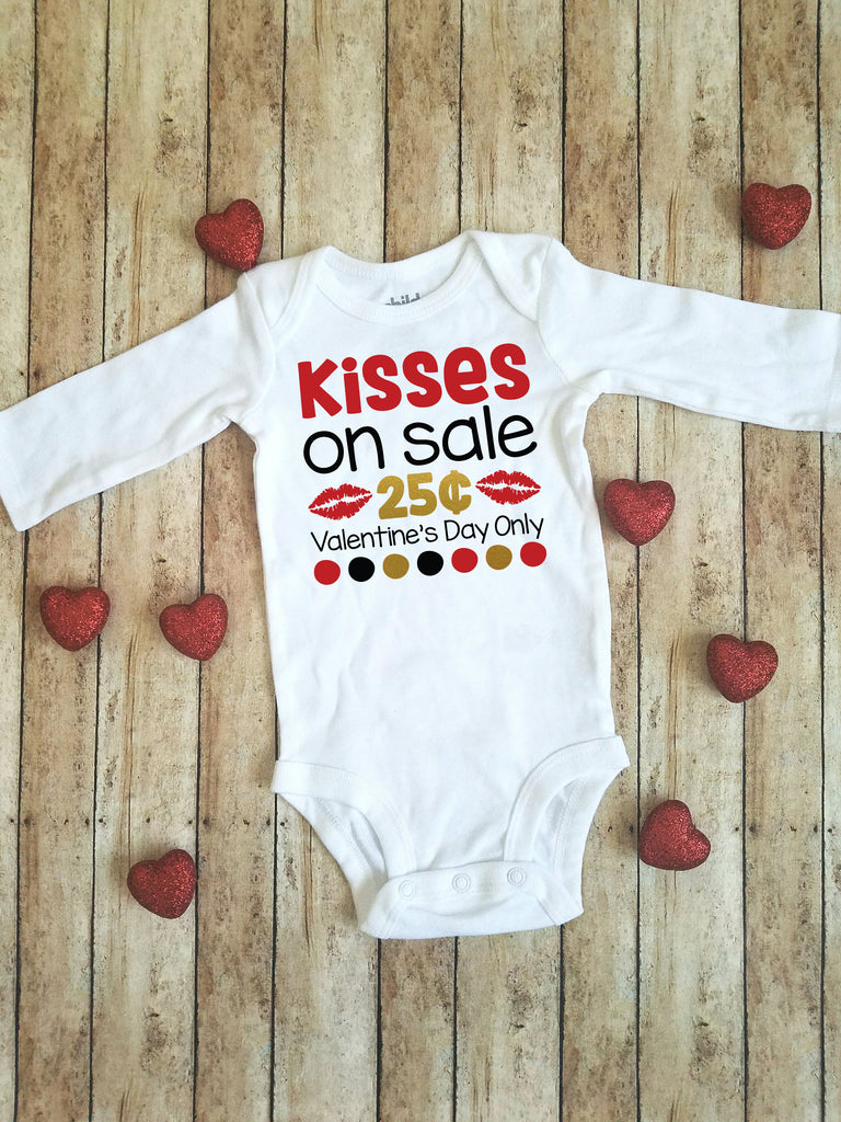 Kisses on Sale 25 cents | Valentine's Day bodysuit