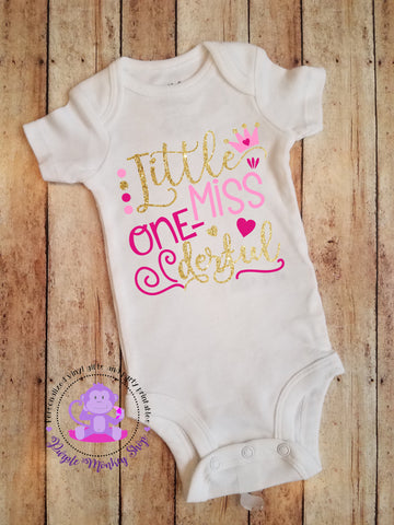 Little Miss One-derful bodysuit/shirt