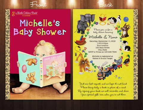 Little Golden Book Inspired Baby Shower Digital Invitation