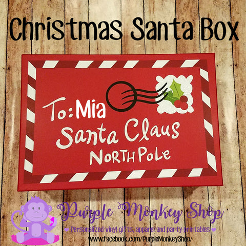 Personalized Christmas Eve Santa Box