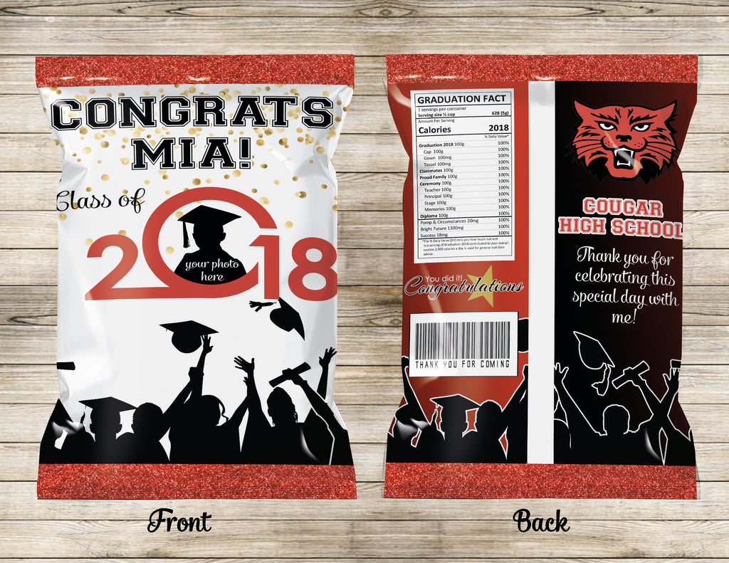 Graduation Chip Bag | Favor Bags