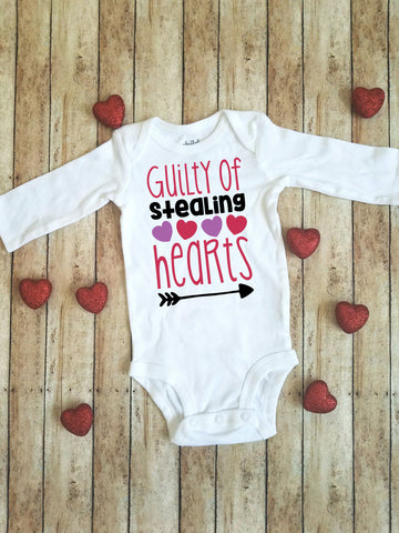 Guilty of Stealing Hearts | Valentine's Day bodysuit/shirt