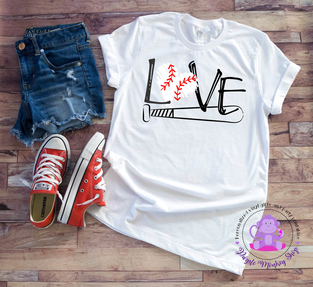 LOVE Baseball/Bat t-shirt