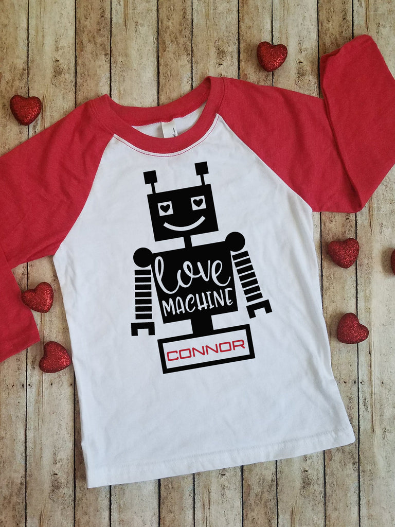 Love Machine | Baseball Tee Shirt | Valentine's Day