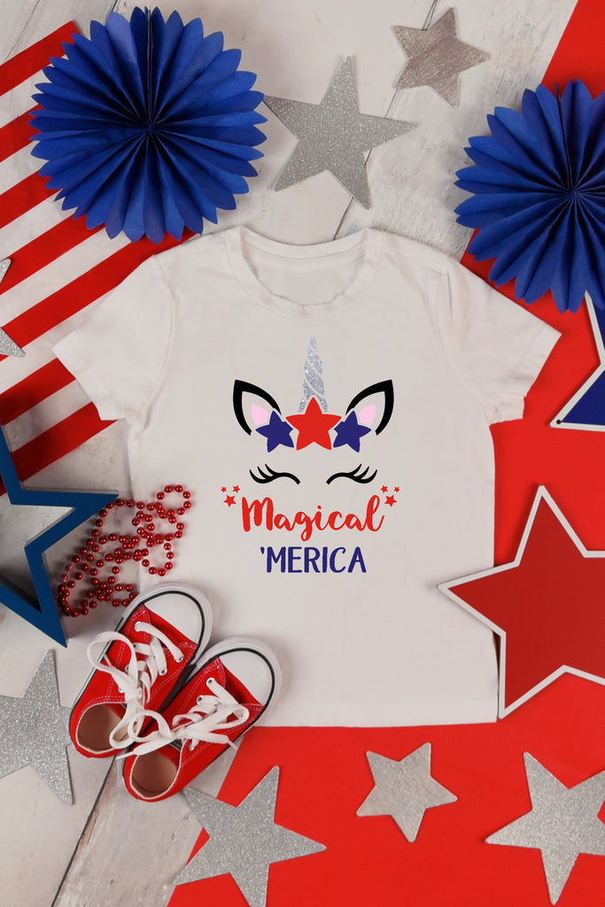 Magical 'Merica Unicorn Fourth of July Shirt