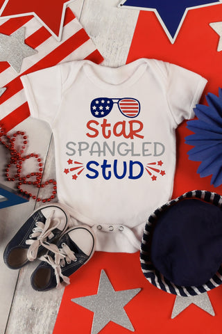 Star Spangled Stud Fourth of July