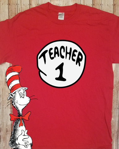 Dr. Seuss Teacher 1, Teacher 2 Shirt