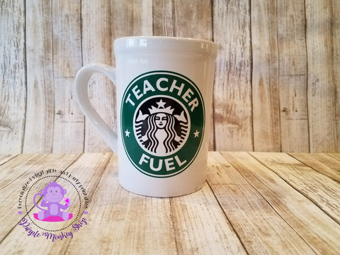 Personalized Teacher Fuel Starbucks mug