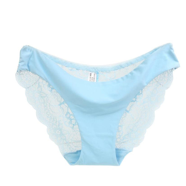 Women's Sexy Lace Panties Seamless Cotton Breathable Panty Hollow Briefs Plus Size Girl Underwear #LSIN