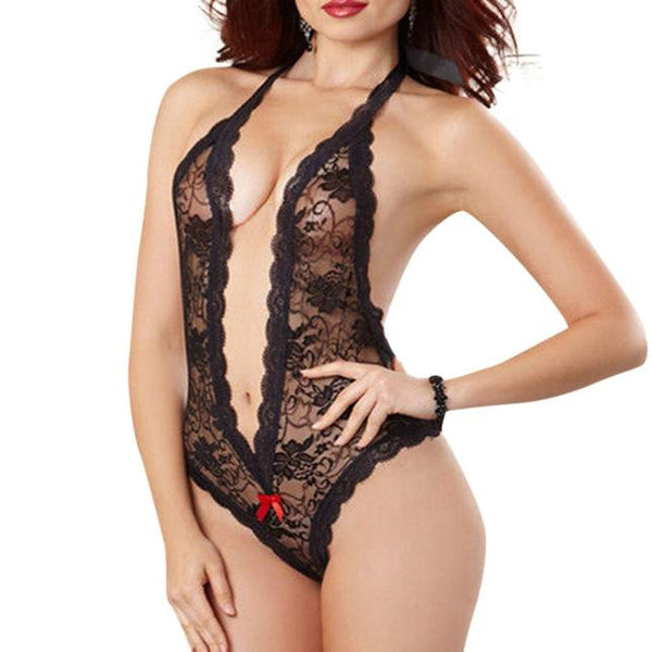 Sexy Women Plus Size Lace Babydoll Underwear Lingerie Dress Sleepwear BK L