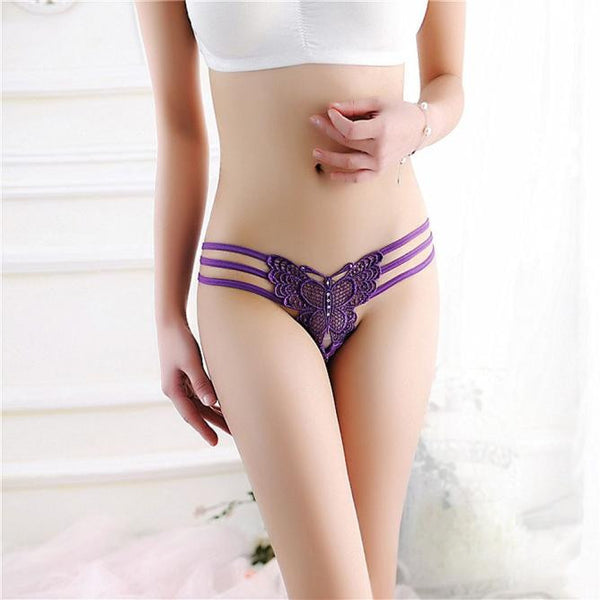 Women Sexy Lace Briefs Panties Thongs G-string Lingerie Underwear BK