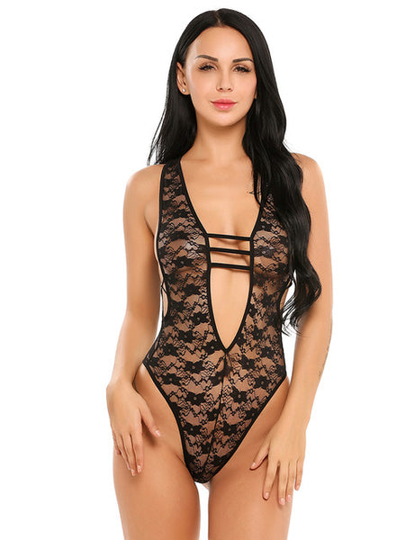 Lace mesh Teddies nightgown