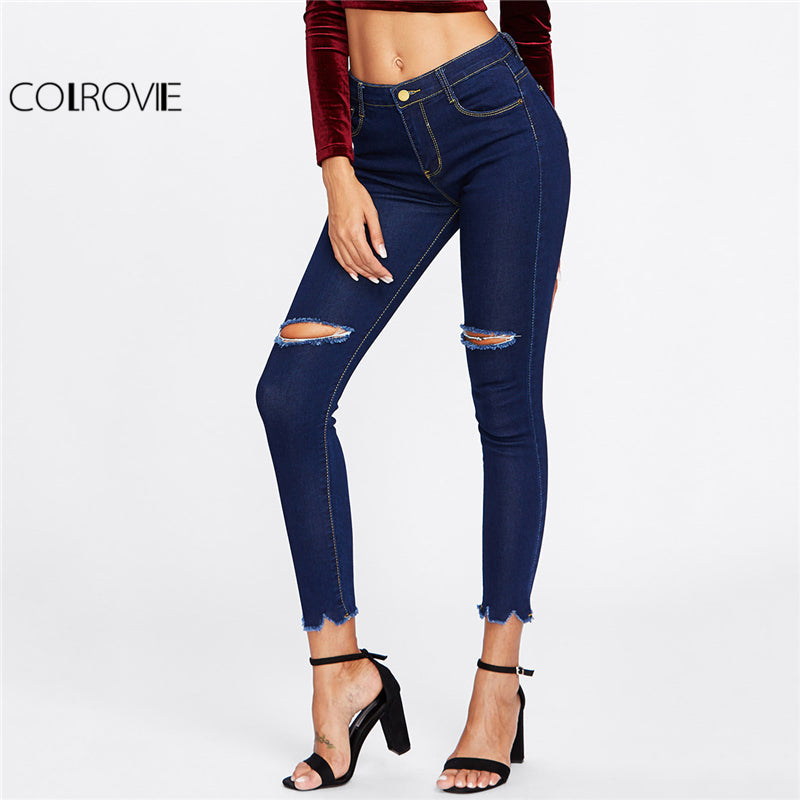 Spring Skinny Crop Denim Jeans