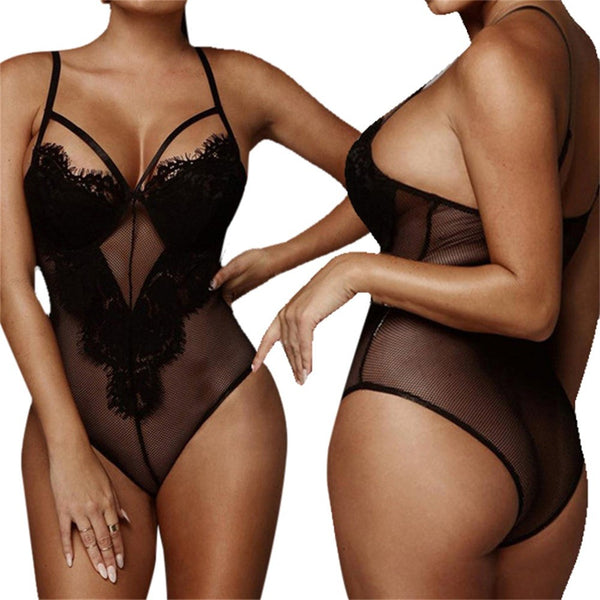 Women Sexy Lingerie Sleepwear Lace Dress Underwear Perspective Backless