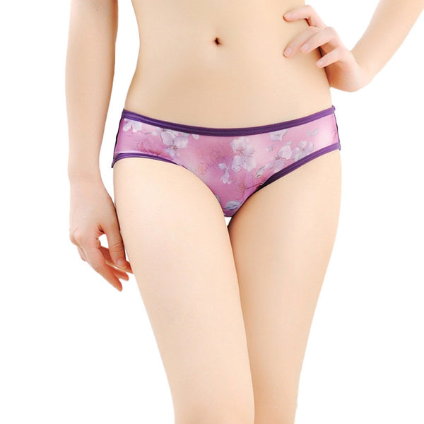 Sexy Women Lace Flowers Low Waist Underwear Panties G-string Lingerie Thongs