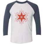 """Red SnOmflake"" Triblend Raglan T-Shirt"