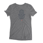 """Hamsa"" Ladies' Triblend T-Shirt"
