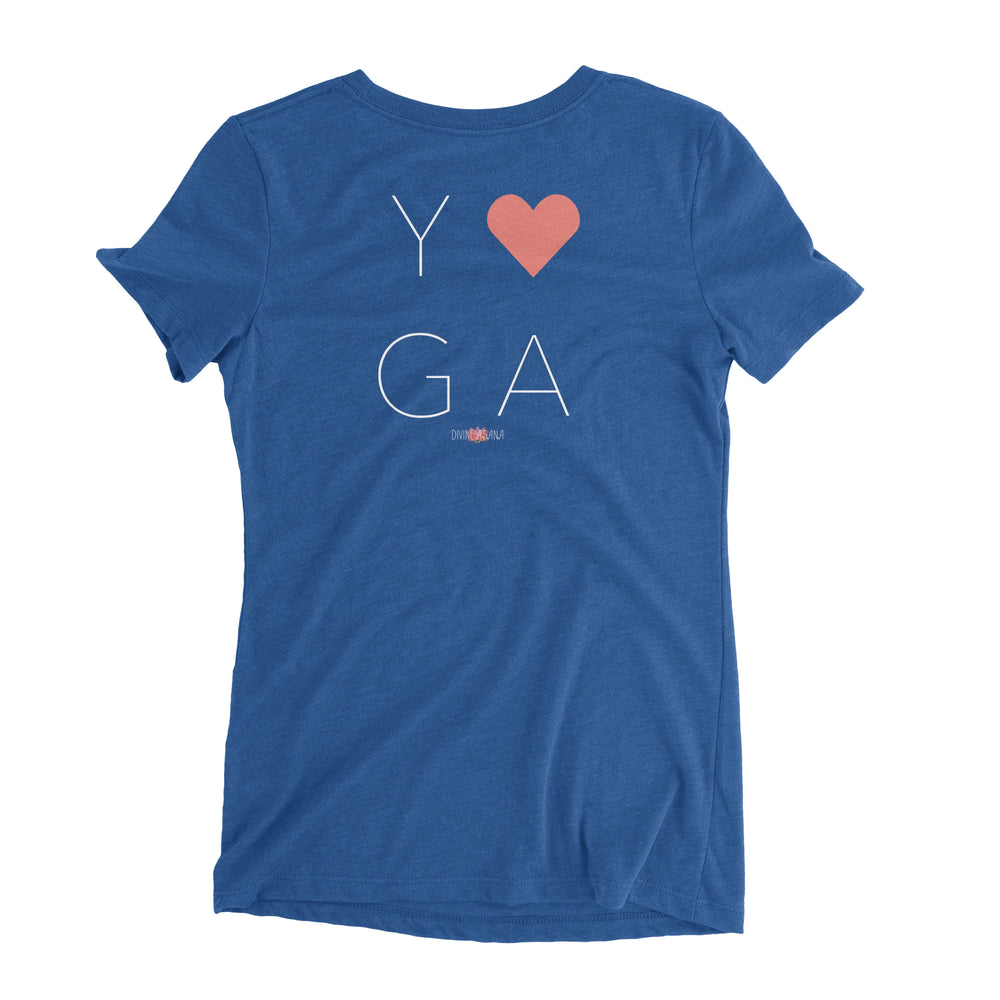 """Yoga Heart"" Ladies' Triblend T-Shirt"